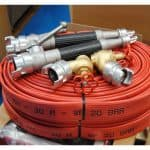 Fire hose mod. SYNTEX with accessories (performances in accordance with BS 6391 Type 1 & 2)