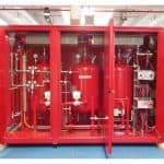 Dry powder skid suitable in case of extremely low temperatures (- 50°C design temperature) supplied to Siberia